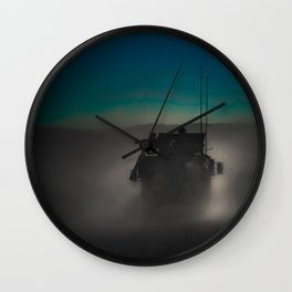 Heading off to a night mission.  Wall Clock