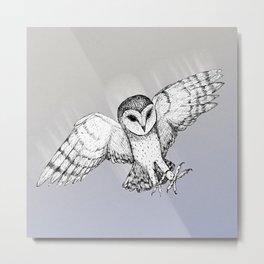 Attacking barn owl Metal Print