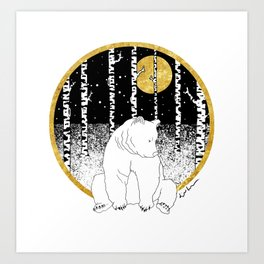 Bear In Mind Art Print