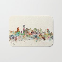 Boston Massachusetts Skyline Bath Mat