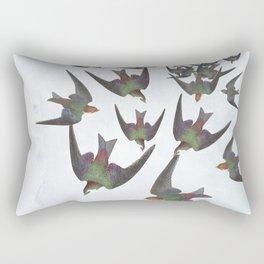 Dipping and dancing barn swallows Rectangular Pillow