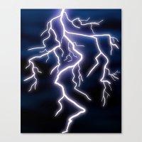 lightning Canvas Prints featuring lightning by Li-Bro