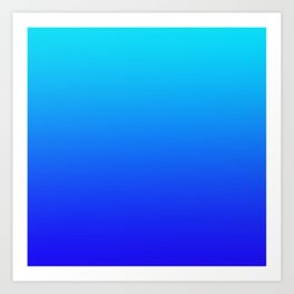Blue Gradient Art Print