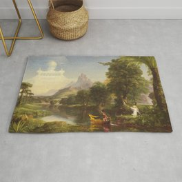 Thomas Cole The Voyage Of Life Youth 1842 Rug