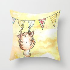 Happy Monster Throw Pillow
