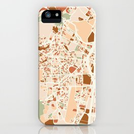 MEDELLIN COLOMBIA CITY MAP EARTH TONES iPhone Case