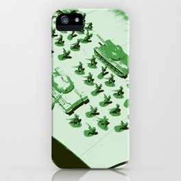 GREEN BATTALLION ON THE MARCH iPhone Case