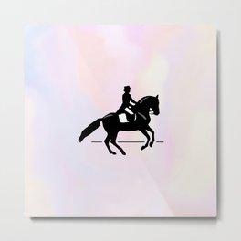 Elegant Dressage Rider Performing a Pirouette Metal Print