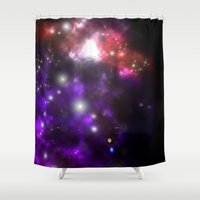 levi Shower Curtains featuring Leviathan Galaxy by Saintly