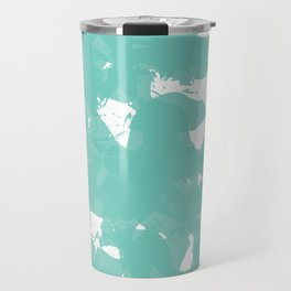 Aqua Flow - Watercolor Brush Travel Mug