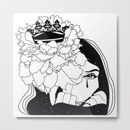 Drama Queen winter flower space Metal Print