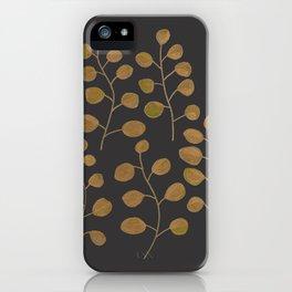 Gold Eucalyptus Leaves iPhone Case