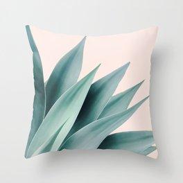 Agave flare II - peach Throw Pillow