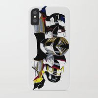 power rangers iPhone & iPod Cases featuring Power Rangers by SquidInkDesigns