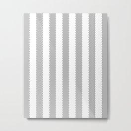 COOL GRAY STRIPES Metal Print