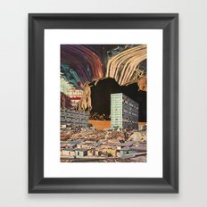 the city's been dead (since you've been gone) Framed Art Print