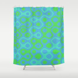Brain Coral Green Banded - Coral Ree Series 020 Shower Curtain