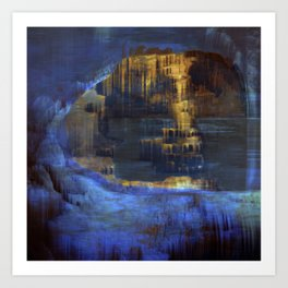 Cave 03 / The Interior Lake / wonderful world 10-11-16 Art Print