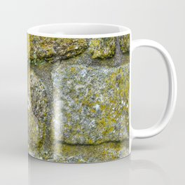 Old granite wall with grey and green colors Coffee Mug