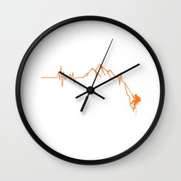Cool Rock Climbing Gift Print Climber Bouldering Heartbeat Product Wall Clock