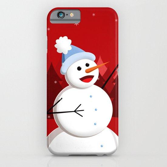 Happy Singing Snowman iPhone & iPod Case