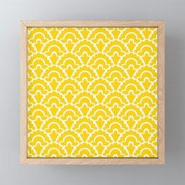Fan Pattern Yellow 108 Framed Mini Art Print