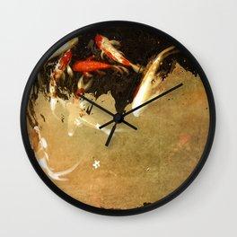 Thirteen Koi Fishes Wall Clock