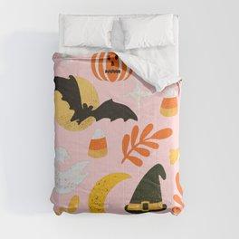 Halloween Cheer in Pink Comforters