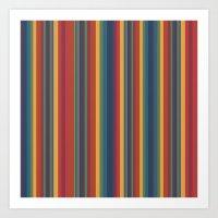 Rich Stripes Art Print