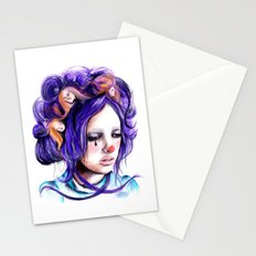 Dolls in her hair, Forest of Dolls Collection Stationery Cards