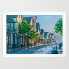 Bar Harbor Maine Main Street Dawn Print Art Print