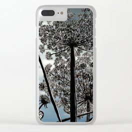 Queen Anne's Lace from a bug's view Clear iPhone Case