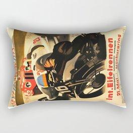 Nurburgring Race, vintage poster Rectangular Pillow