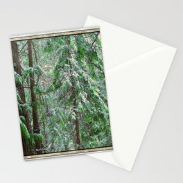 SUNSET SNOW IN CEDARS Stationery Cards