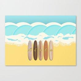 Aloha Surf Wave Beach Canvas Print