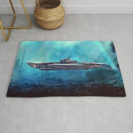 Pirate Submarine Rug