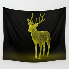 numeric deer 4 Wall Tapestry
