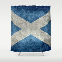 Flag of Scotland, Vintage Retro Style Shower Curtain