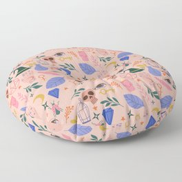 Cute Witchy Toss Pattern Floor Pillow
