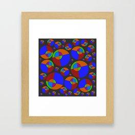 Bubble red & blue 09 Framed Art Print