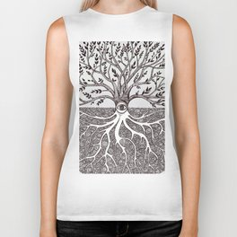 Tree of Life as above so below Biker Tank