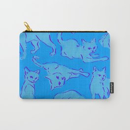 Cat Crazy blue Carry-All Pouch