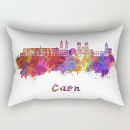Caen skyline in watercolor  Rectangular Pillow