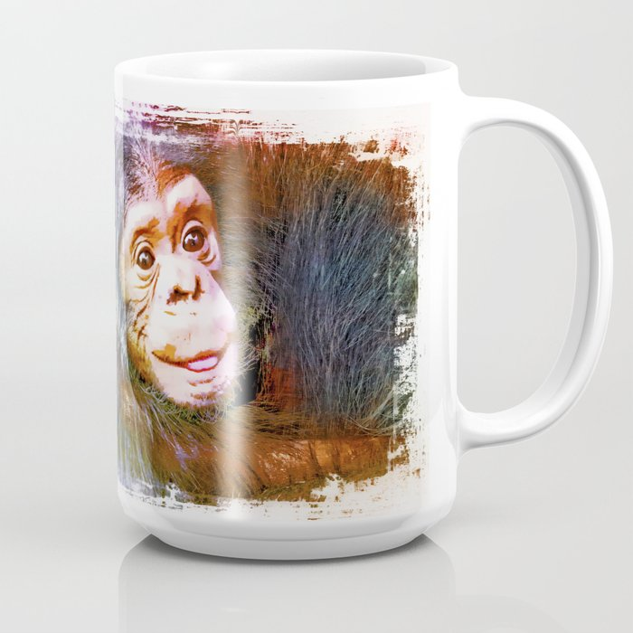 Cute Chimpanzee Baby Coffee Mug By Animalworld Society6