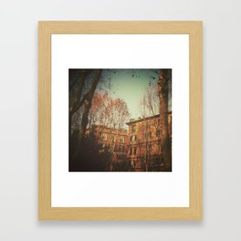 A warm day in Rome. Framed Art Print