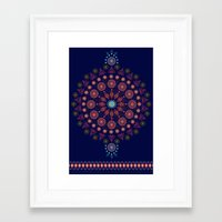 nordic Framed Art Prints featuring Nordic Star by RED ROAD STUDIO