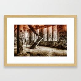 ice factory interior Framed Art Print