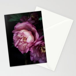 Hourly I sigh: dark pink peonies Stationery Cards