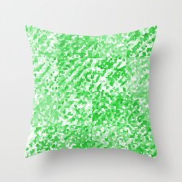 Green Delight (Squares) Throw Pillow