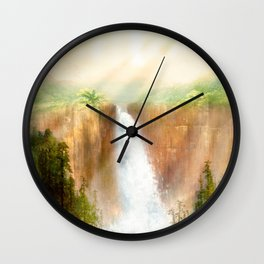 Beyond the Waterfall Wall Clock